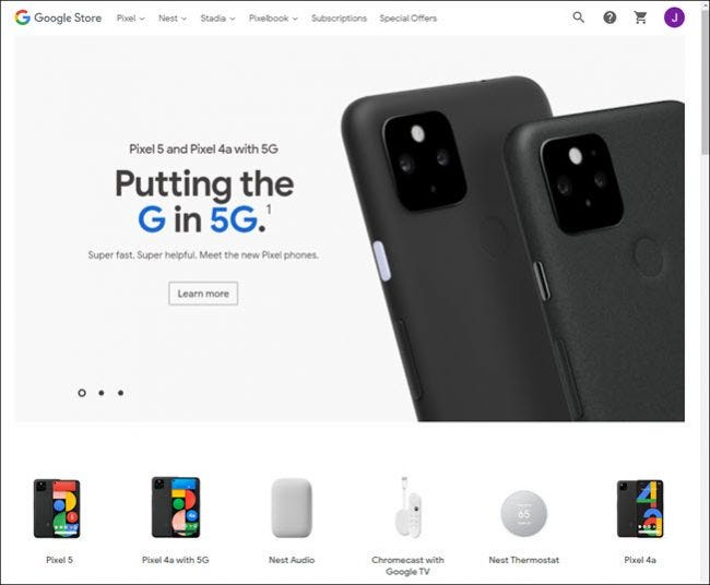 google store website