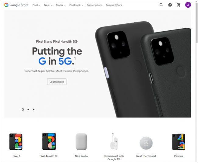 sito web di google store