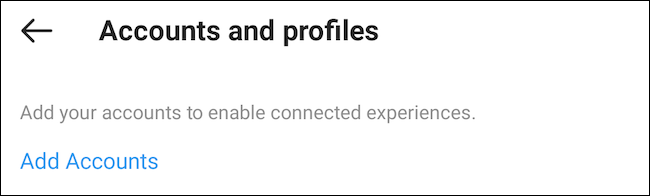 Add Facebook account to Instagram