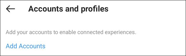 Adicionar conta do Facebook ao Instagram