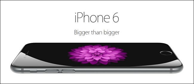 An iPhone 6 publicity image from Apple