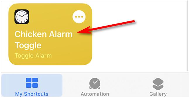 Przykład skrótu w aplikacji Skróty na iPhone'a.