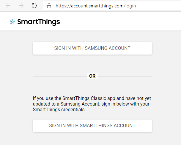 go to the smarthings IDE and log in