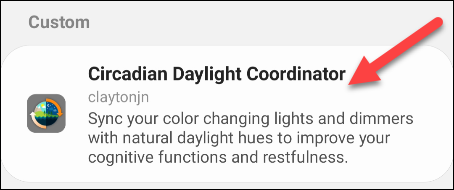 select circadian daylight coordinator