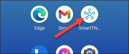 open the smartthings app
