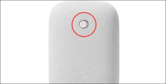Interruptor de mudo do áudio do Google Nest