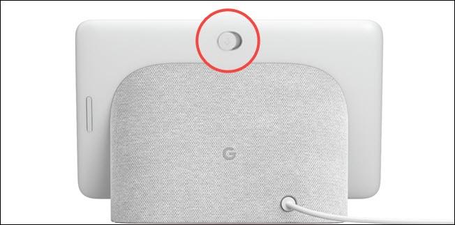 Interruptor mudo do hub do Google Nest