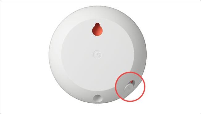 google nest mini mute switch