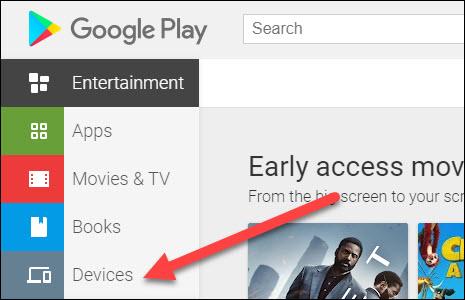 scheda dispositivi Play Store