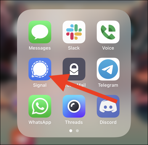 "Open the ""Signal"" app"