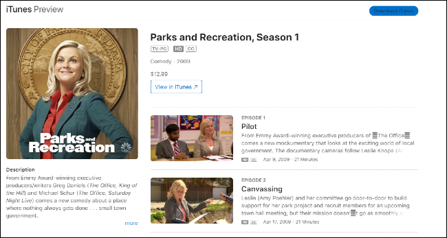 Parks and Recreation on iTunes