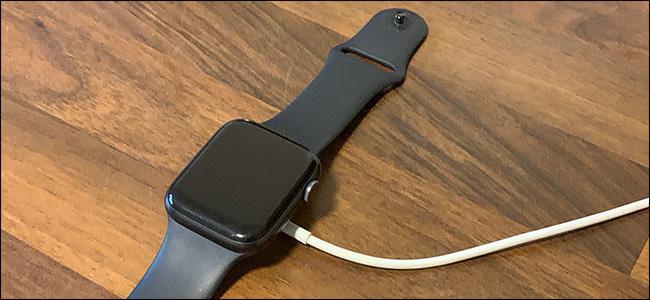 An Apple Watch not charging