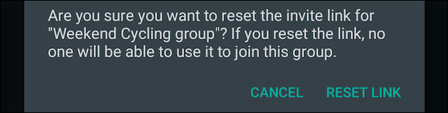 Reset WhatsApp group link