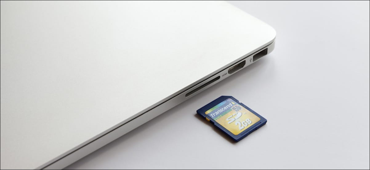 MacBook User Formatting an SD Card
