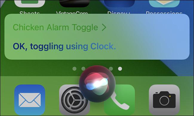 Po uruchomieniu skrótu Siri wyświetli potwierdzenie na ekranie Twojego iPhone'a.