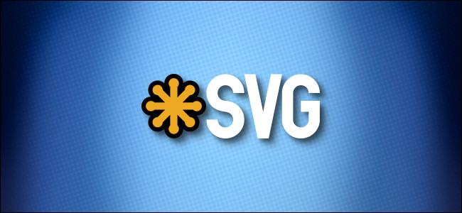 SVG logo on a blue background