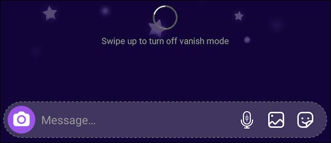 Turn off Vanish Mode on Instagram