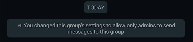 Restrict sending messages in a WhatsApp group to admins