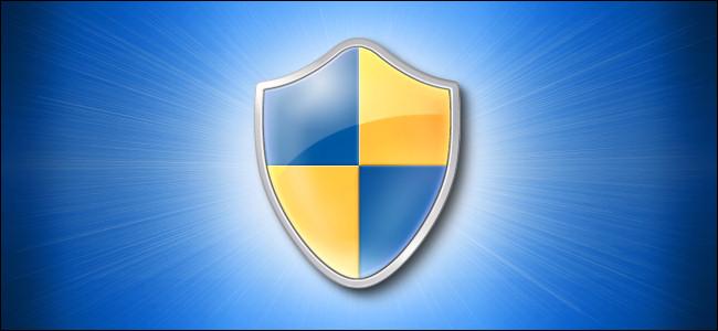 Ícone do logotipo do Windows 10 Shield em fundo azul
