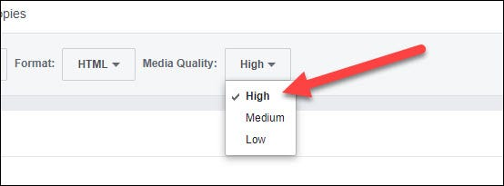 choose media quality