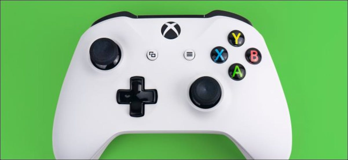An Xbox One S controller.