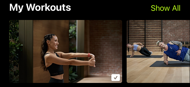 preview image of my workouts on Apple Fitness +