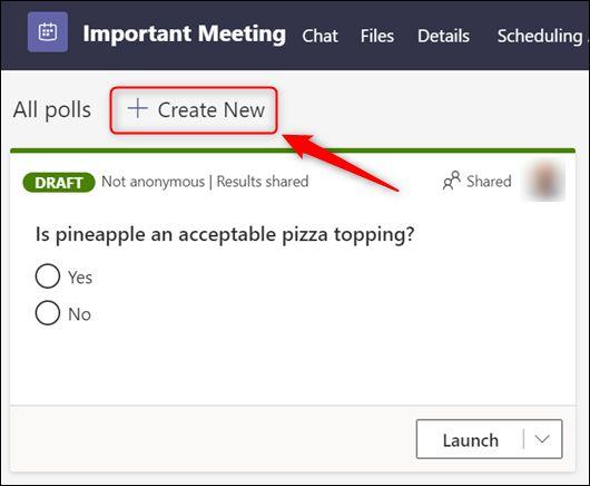 "The ""Create New"" option."