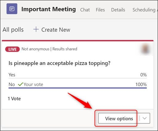 """The """"View options"""" option."""