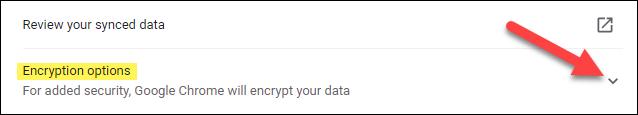 espandere le opzioni di crittografia