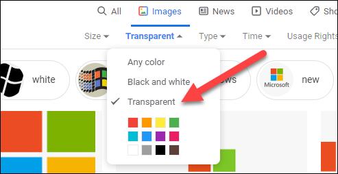 select transparent