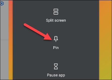 "Select ""Pin"" from the menu"