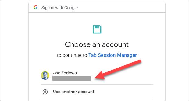 select a google account