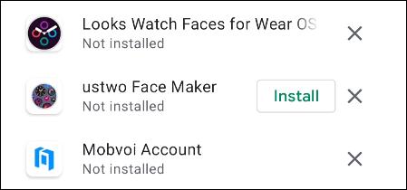Apps that aren't compatible.