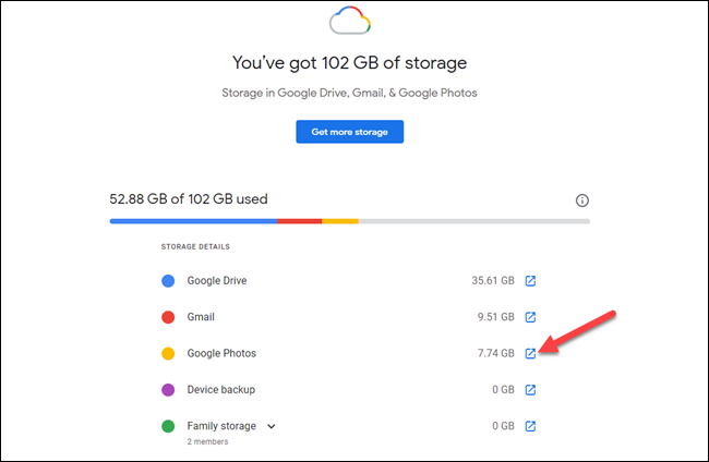 google one storage