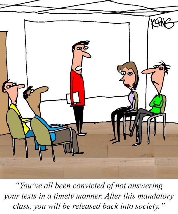 Geek Comic for February 22nd — Mandatory Texting Class