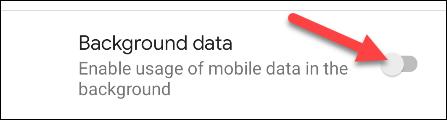 disattiva i dati in background