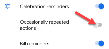 turn off occasionally repeated actions