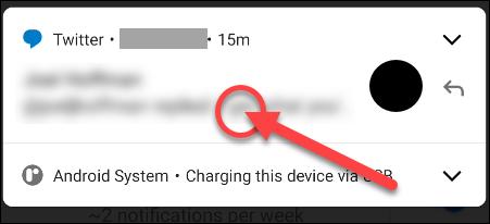 Long press the notification.