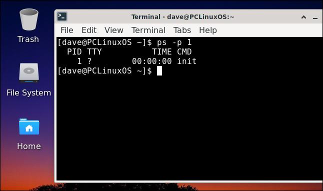PCLinuxOS desktop with a terminal window open