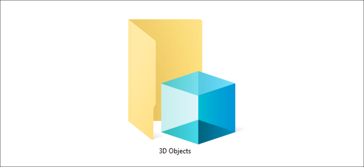The 3D Objects folder on Windows 10.