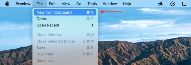 Click Create New From Clipboard