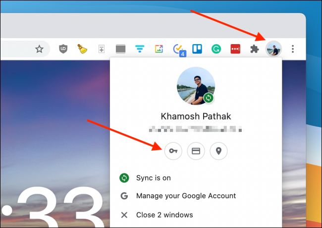 Click Passwords From Chrome Profile
