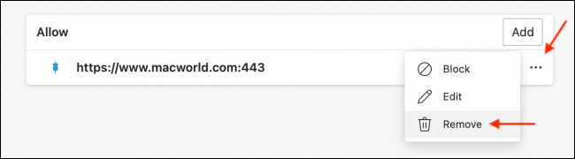 Click Remove to Stop Website Notifications
