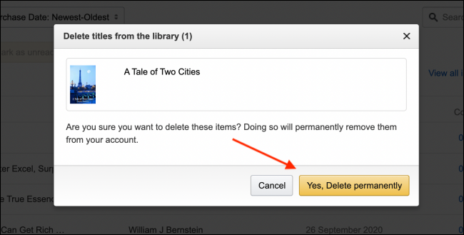 Click Yes Delete permanently