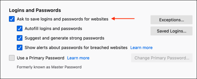 Disable Save Login Popup in Firefox