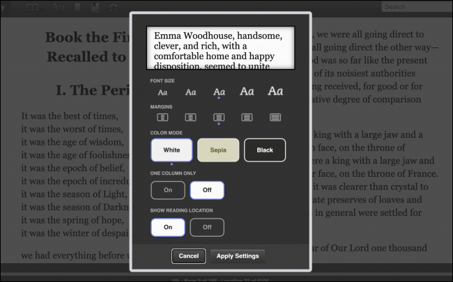 Edit Text Formatting in Kindle Cloud Reader