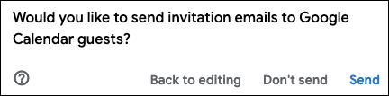 Escolha enviar convites por e-mail aos convidados