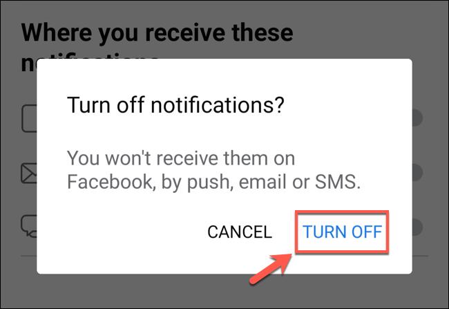 """Para desativar as sugestões de amigos, toque em """"Desligar"""" para confirmar."""