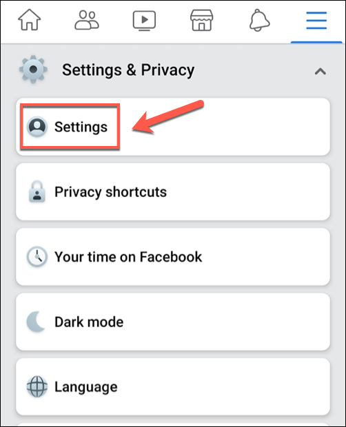 """From the Facebook app menu, tap Settings & privacy> Settings.  """"Width ="""" 486 """"height ="""" 600 """"onload ="""" pagespeed.lazyLoadImages.loadIfVisibleAndMaybeBeacon (this);  """"onerror ="""" this.onerror = null;  pagespeed.lazyLoadImages.  loadIfVisibleAndMaybeBeacon (this);  """"/></p> <p>To access your Facebook suggestion settings, scroll through the """"Settings"""" menu and tap the """"Notification Settings"""" option.</p><div><script async src="""
