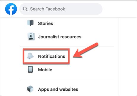 In the Facebook settings menu, press